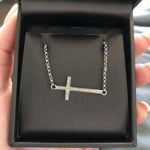 Jewelry - Sideways Cross Necklace